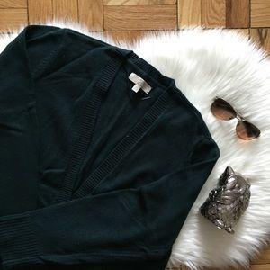 LOFT Teal Open Sweater Cardigan